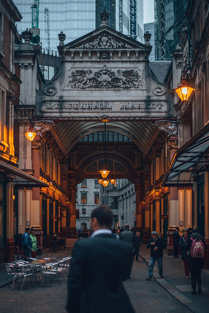 Leadenhall Market, London - Site of The Leaky Cauldron in the Early Harry Potter FilmsPicture